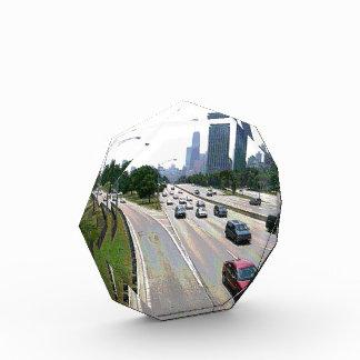 Chicago-Verkehr im Sandstein Auszeichnung