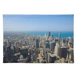 Chicago von oben stofftischset