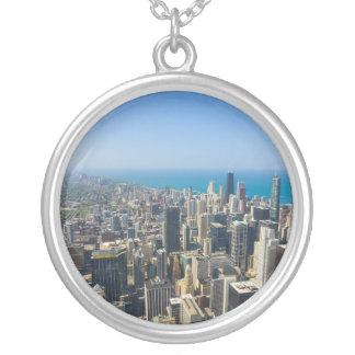 Chicago von oben versilberte kette