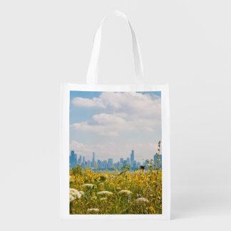 Chicago, wie vom Vogel Montrose Hafens gesehen Einkaufstasche