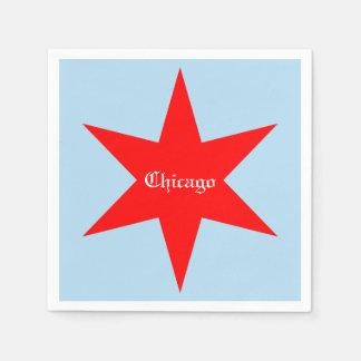 """""""Chicagos"""" Chicago Blau Bk des Flaggen-rotes Serviette"""