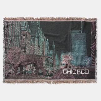 CHICAGOS MICHIGAN NEON DES ALLEEN-@ DECKE