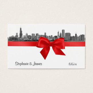 ChicagoSkyline ätzte rote Platzkarten #2 BW Visitenkarten