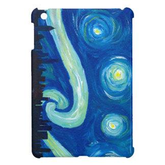 Chicagoskyline-Silhouette nachts Starry iPad Mini Hülle