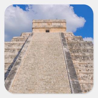 Chichen Itza Mayatempel in Mexiko Quadratischer Aufkleber