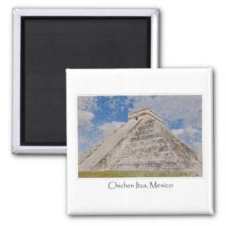 Chichen Itza Mayatempel in Mexiko Quadratischer Magnet