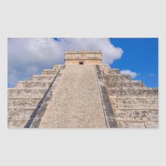 Chichen Itza Mayatempel in Mexiko Rechteckiger Aufkleber