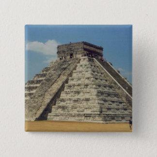 Chichen Itza Quadratischer Button 5,1 Cm