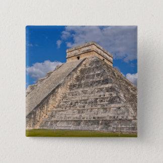 Chichen Itza Ruinen in Mexiko Quadratischer Button 5,1 Cm