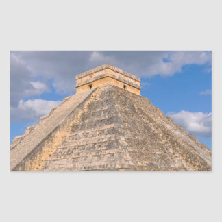 Chichen Itza Ruinen in Mexiko Rechteckiger Aufkleber