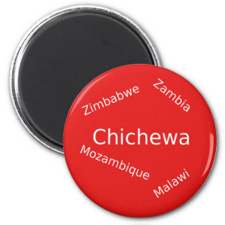 Chichewa-Sprachentwurf Runder Magnet 5,1 Cm