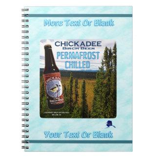 Chickadee-Birken-Bier Spiral Notizblock