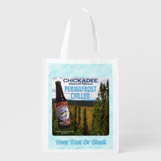 Chickadee-Birken-Bier Wiederverwendbare Einkaufstasche