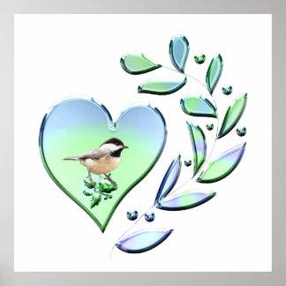 Chickadee-Liebhaber Poster