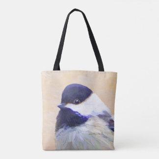 Chickadee-Malerei - ursprüngliche Vogel-Kunst Tasche