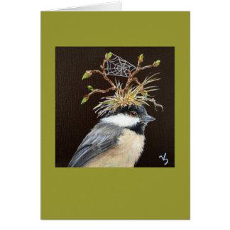 Chickadee mit Netzhutkarte Karte
