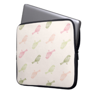 Chickadee-weiche Muster-Laptop-Hülse Laptopschutzhülle