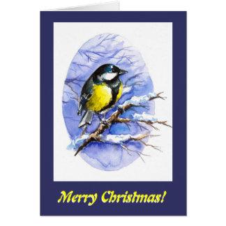 Chickadee-Weihnachtskarte Karte