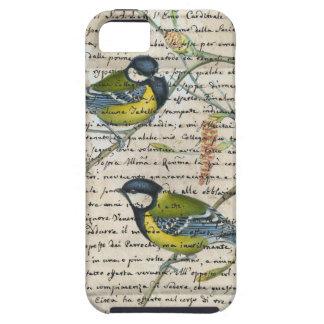 Chickadeesvogelcollage iPhone 5 Etui