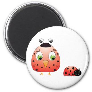 chickie B ein Marienkäfer-Magnet Runder Magnet 5,7 Cm