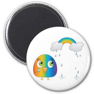 chickie B ein Regenbogen-Magnet Runder Magnet 5,7 Cm