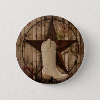 Chicscheune hölzernes runder button 5,7 cm