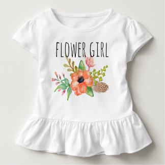 ChicWatercolor mit Blumen/Blume Girl-3 Kleinkind T-shirt