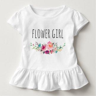ChicWatercolor mit Blumen/Blume Girl-5 Kleinkind T-shirt