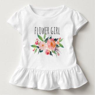 ChicWatercolor mit Blumen/Blume Girl-8 Kleinkind T-shirt