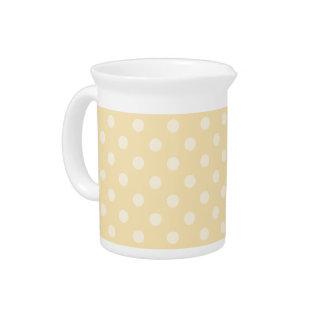 Chiffon- gelbe Punkte der Zitrone Getränke Pitcher
