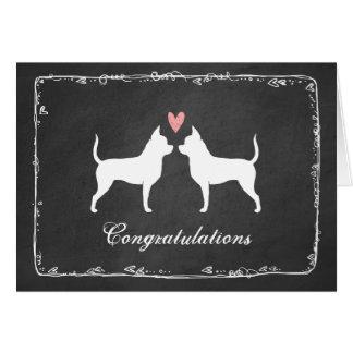 Chihuahua, die Glückwünsche Wedding sind Karte