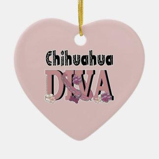 Chihuahua DIVA Keramik Herz-Ornament