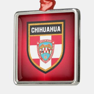 Chihuahua-Flagge Silbernes Ornament