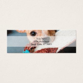 chihuahua flip flops mini visitenkarte