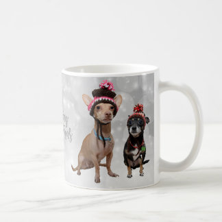 Chihuahua-frohe Weihnachten Kaffeetasse