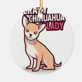 Chihuahua-Geschenk Keramik Ornament