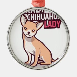 Chihuahua-Geschenk Silbernes Ornament