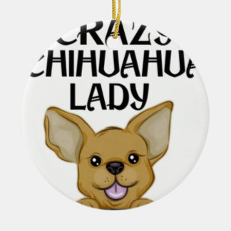 Chihuahua-Geschenke Keramik Ornament