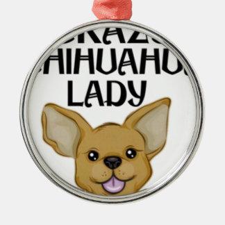 Chihuahua-Geschenke Silbernes Ornament