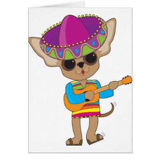 Chihuahua-Gitarre Karte