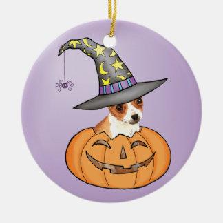Chihuahua Halloween Rundes Keramik Ornament