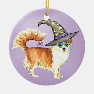 Chihuahua-Hexe Keramik Ornament