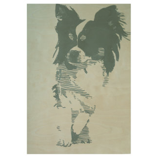 Chihuahua Holzposter