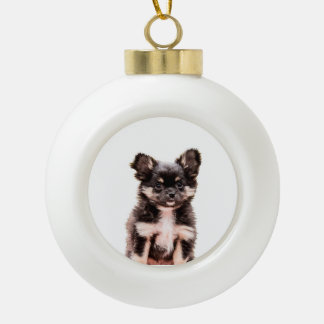 Chihuahua-Hündchen Keramik Kugel-Ornament