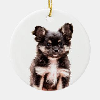 Chihuahua-Hündchen Keramik Ornament