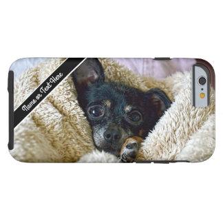 Chihuahua-Hundedeckesnuggle-Foto-Telefon-Kasten Tough iPhone 6 Hülle