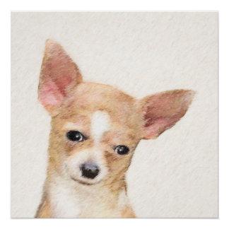 Chihuahua-Malerei - niedliche ursprüngliche Poster