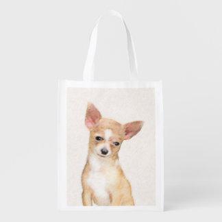 Chihuahua-Malerei - niedliche ursprüngliche Wiederverwendbare Einkaufstasche