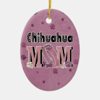 Chihuahua MAMMA Ovales Keramik Ornament