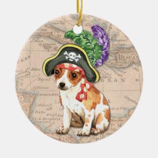 Chihuahua-Pirat Keramik Ornament